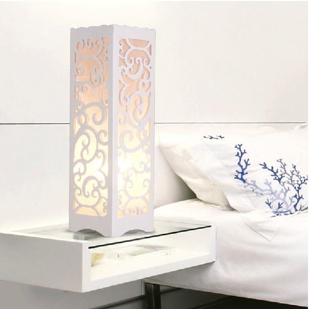 LED decorative table lamp vintage Wood Plastic Rustic Style Brief Modern Lampshade Living Room Bedroom 110-220V desk light(China (Mainland))
