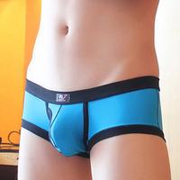 Free Shipping!! WJ men's underwear Breathable mesh jacquard weave men's boxer U convex Men's Boxer Shorts 2011-PJ