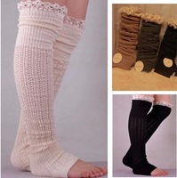 2014 lace leg warmers knit lace leg warmers boot toppers socks knee high socks birthday gifts christmas gifts