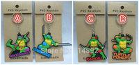 400 pcs/lot Classic anime Teenage Mutant Ninja Turtles Leo Raph Mikey Don PVC figures keychains free shipping by DHL