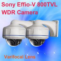Vandalproof Dome Camera with housing bracket Sony Effio V 800TVL Varifocal lens WDR CCTV Security Camera