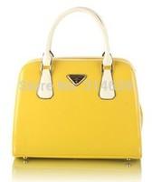 New Korean Style Fashion Female Women Bag Bright Skin Leather Handbags Totes Shoulder Bags Messenger Cross body Finalize