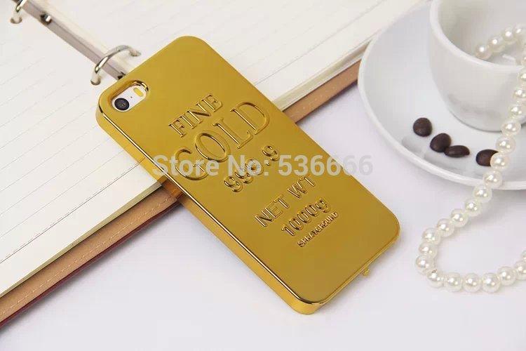 Metal Electroplating Golden Gold Bar Bullion Wallpaper PC Hard Back