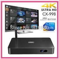 2014 CX-998 CX998 Quad Core Android TV Box RK3288 2GB/16GB TV Box Bluetooth Wifi 1080P HDMI Smart Media Player TV Receiver XBMC