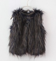 Hot Sell New winter autumn  faux fur girls vest fashion 5pcs/lot wholesale