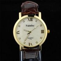 Brand New Fashion Genuine Leather Men Women Casual Quartz Wrist Watches Classic Unisex Wristwatches Clock