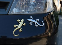 Fashion Metal Car Sticker Decorative Cool 3D Emblem Lizard Sticker Gecko 3D Car Stickers Free Shipping by DHL/Fedex 100pcs