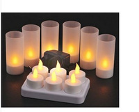 Automatic Voice Control LED Candle Light Birthday Electronic Light,Yellow