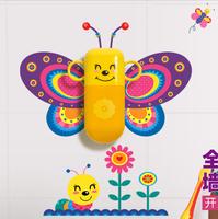 Cartoon Children's Wash Cup Toothpaste, Toothbrush Holder With Wall Sticker Children's Gift