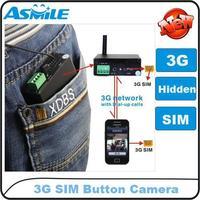 HOT SALE 3G button camera surveillance remote video camera,3g camera,hidden ,3g video camera from asmile