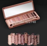 1pcs Hot 2014 new NAKE 3 Makeup Glitter Eyeshadow Palette Cosmetics Latest 12 Color NK3 Brand eye shadow Brush Make up Set