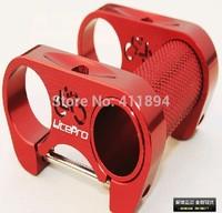 Red LITE_PRO Fold Bike Bicycle Double Stem LP Aluminum Super Light CNC 93G