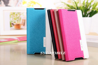 2014 Hot Luxury Stand Flip Leather Case for Sony Xperia Z2 Sony Z2 Cover Book Style with Card Slot Phone Bag