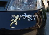 Fashion Metal Car Sticker Decorative Cool 3D Emblem Lizard Sticker Gecko 3D Car Stickers Free Shipping by DHL/Fedex 1500pcs