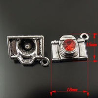 20PCS  Fashion Antique Silver Zinc Alloy Cute Lovely Camera Charms Necklace Pendant 18x15mm