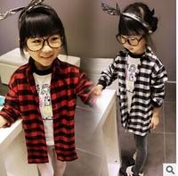 The coat is 2014 autumn Korean girls loose and long sleeve shirtGW036