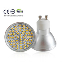 GU10 4W 60SMD 220V aluminum cup with glass cover