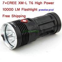 10000 lumens Super Bright LED flashlamp 7 x CREE XM-L T6 XML T6 7T6 LED Flashlight Torch Free/Drop shipping