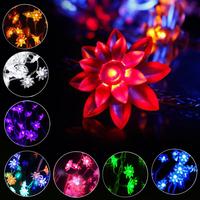Christmas 10M 80pcs Flower LED Lights Decoration Lighting Outdoor Balcony Wedding Festival Party Lotus LED