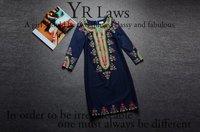 2014 Autumn Winter Women's Dresses National Style Handmade beading Vintage Short Print Dress