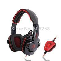 SADES SA-90 7.1Surround Stereo USB Headband Headphone Headset w/ Microphone Red