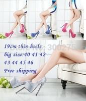 2014 spring/Autumn 19cm red bottom Ultra high Heels sexy diamond wedding pumps platform single woman shoes,Big size:40-44 45 46