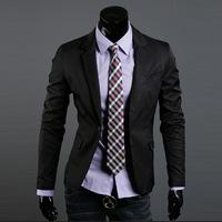New 2014 Autumn Winter Fashion Men Formal Suit Jacket fashion Slim Men British wind Pure Color Formal Suit Jacket Free Shipping