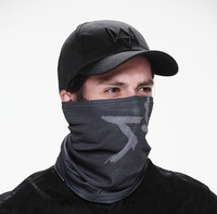 New 2014  Watch Dogs Aiden Pearce Face MASK CAP  cotton Hat Set Costume Cosplay Mask + Hat  The Mask with Stripe