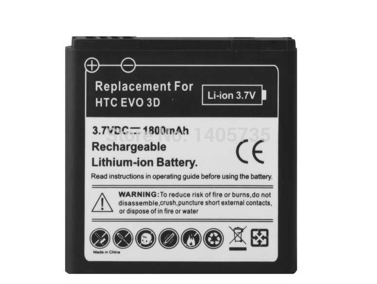 NEW 1800mAh EVO 3D Battery For HTC EVO 3D Sensation XL G14 X515m G17 Sensation XE Z715e G18 AKKU Bateria Batterie +TRACKING(China (Mainland))