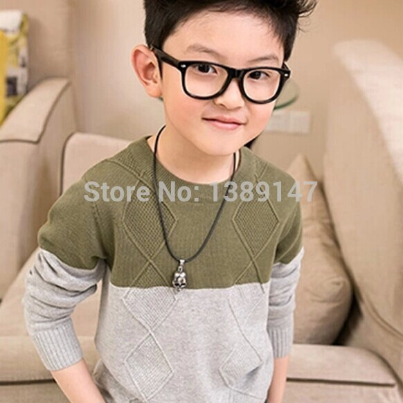 2 Colors 6-15 T Handsome Design Boys Sweaters Kids Winter Sweater Kids Clothes Boys Baby Casual Boy Sweater(China (Mainland))
