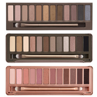 3pcs/lot Wholesale 2014 new NAKE Makeup set 12 Colors palette NK 1 2 3 eyeshadow palettes with brush, free Dropshipping