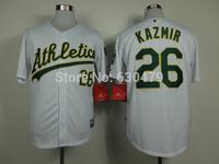 accept drop shipp. stitched cheap Oakland Athletics Jerseys #26 Scott Kazmir   Baseball Jersey Jose Abreu baseball shirt