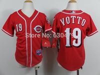 accept drop shipp. stitched cheap  Cincinnati Reds #19 Joey Votto  youth/kid's   Baseball Jersey Jose Abreu baseball shirt