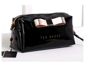 Newest Ted cosmetic bag  ted london bowknot candy makeup bags  ted Jelly bow  bag toiletry bags lady clutches