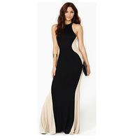 2014 New Women brief O-neck off the shoulder long casual dress maxi dress evening dress party dress vestidos 4162