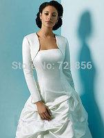 LA04 2014 Hot Sales Custom Made Long Sleeves Bridal Wraps Simple and Cheap Bolero Women Jacket Wedding Accessories