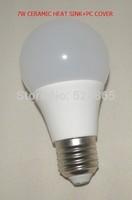 5pcs/lot Free shipping ceramic led bulb lamp light E27 7w 9w 12w Led Bulb E27 360 Degree Energy Saving Led Light Wholesale