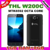 "2014 New THL W200C Octa Core mobile phone MTK6592M RAM1G+8G 5.0""HD 1280x720 2000mAh WCDMA GSM 8.0MP Camera+Free case+screen film"