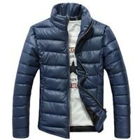 2014 Winter Autumn New Brand Men's Thick Coat South Korea Slim style Stand collar Men's Down Jacket Cotton men coat