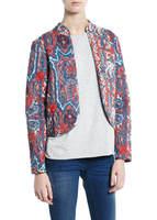 New 2014 Women's Cotton Winter Coat Cardigan Print Flower Pattern Slim Long Sleeve Casual Down Jacket Coat Down & Parkas
