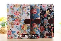 New Fashion Flower Floral Leather Flip Smart Cover Case for Ipad Mini  Ipad Mini 2 Mini2 Case Sleep Awake Stand Wallet
