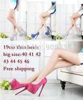 Eur:40-44 45 46 Hot selling CD spring/Autumn red bottom Ultra high heels diamond 19cm sexy wedding women's pumps fashion shoes