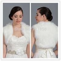 LA06 2014 In Stocks Elegnat Faux Fur Sleeveless Wedding Bolero Women Bridal Wraps For Weddings Jacket  Accessories