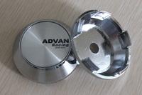 Free Shipping 65mm Chrome Car Styling Japan ADVAN Racing Wheel Center Caps Hub Cap Wheel Covers