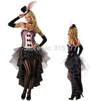 Free shipping Black Pink Burlesque Fancy Dress Costume 2014 Women Wholesale 10pc/lot Halloween Fancy dress costume 8822