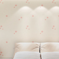 Modern Floral PVC Wallpapers Warm Love Small Flower Pearl Bedroom Background Wall Paper for Walls Pink Color papel de parede