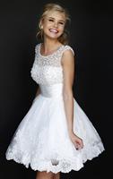 New 2014 white short wedding dresses the bride sexy lace wedding dress bridal gown plus size weddings ivory vestido de noiva