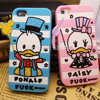 2014 Cartoon Silicone Daisy Donald Back Cover for Apple iPhone 5 5G 5S Phone Case Capa Celular K20240