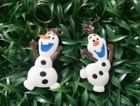 3D Frozen Olaf Anna Elsa pvc Keychain 4PCS/SET High quality Cute toys for children