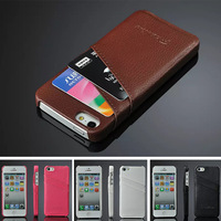 100% Genuine Real Leather Flip Cover Case for iPhone 5S 5 Luxury Vintage Cross Pattern PU Leather Folio Wallet Book Style Cases